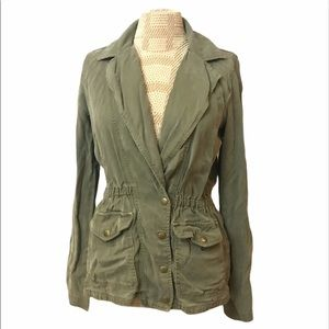 Lucky Brand Women's Military Jacket Distressed XS